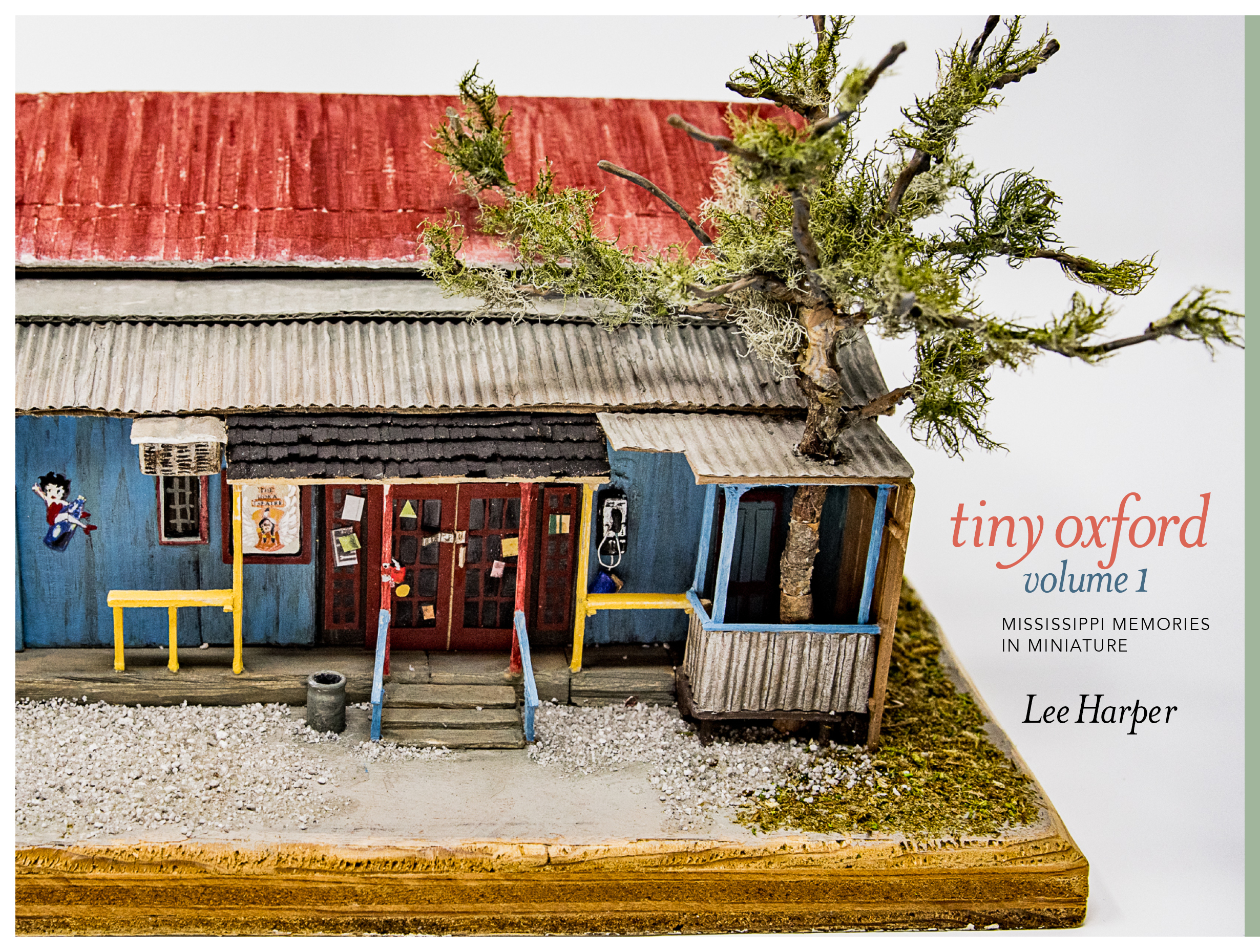 cover of book Tiny Oxford building red roof tree minature
