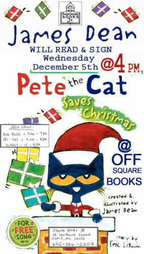 james dean signs pete the cat saves christmas - Pete The Cat Saves Christmas