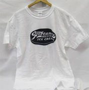 Image of white tshirt with Fortune's Famous Ice Cream Sign