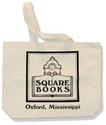 Image of Natural Tote Bag with Black Square Books Logo