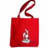 Image of Red Tote Bag with Rabbit Reader