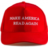 Image of Red Hat with White Text that reads Make America Read Again