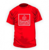 Image of red T Shirt with Square Books Logo