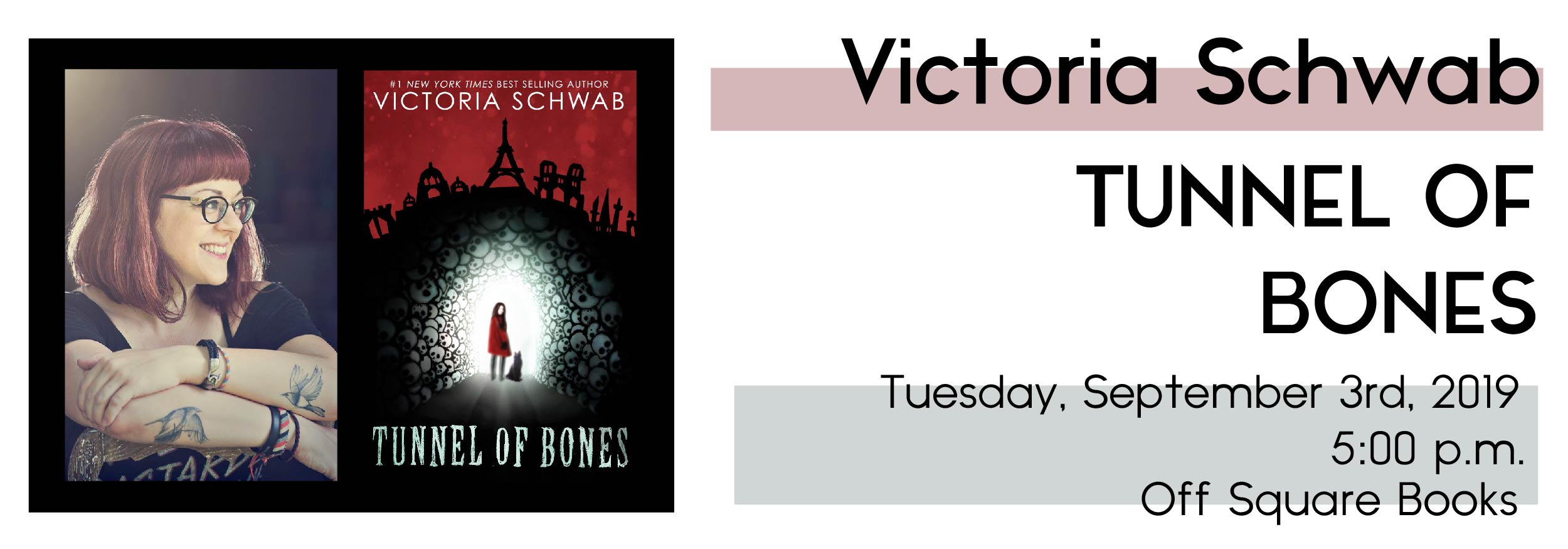 Victoria Schwab with TUNNEL OF BONES | SQUARE BOOKS